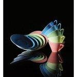 Talíř mělký 19 cm Daisy lososový Lilien
