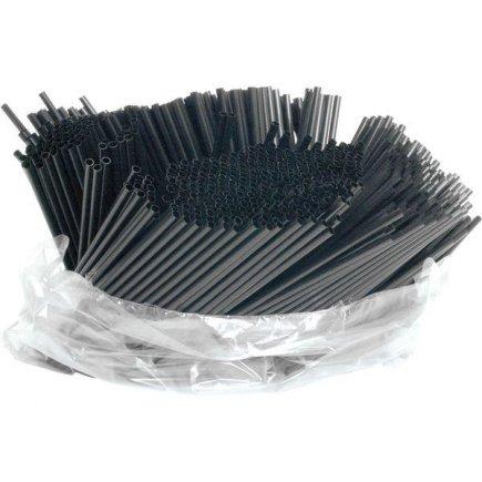 Barové slámky brčka Piazza 21 cm 1000 ks, černé