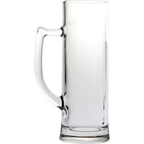 Sklenice na pivo 0,5 l, Džbán, cejch 0,5 l s uchem Sauerland Gastro