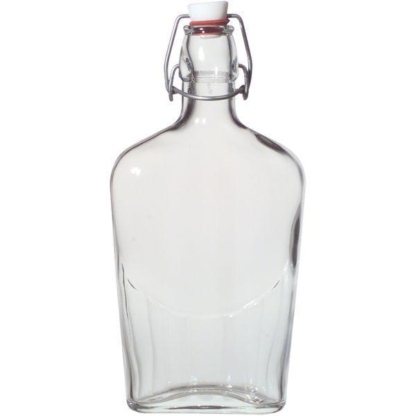 kapesní láhev na alkohol 250 ml pálenku obloučkový uzávěr placatka