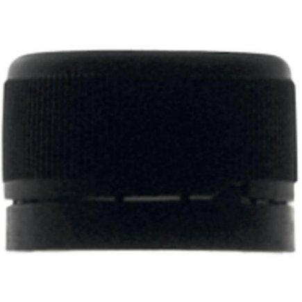Šroubovací zátka černá, bezpečnostní kroužek