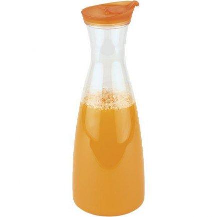 Karafa s víkem plastová APS 1600 ml, oranžové víko