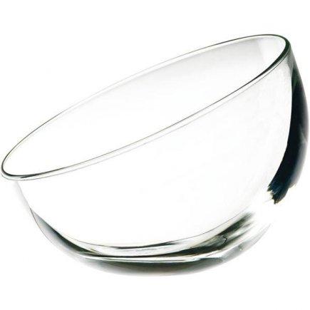 Miska oválná šikmá, skleněná, 0,13 l, Bubble