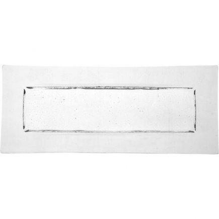 Talíř 35x14,5 cm sklo na dezerty předkrmy Gobi Axum