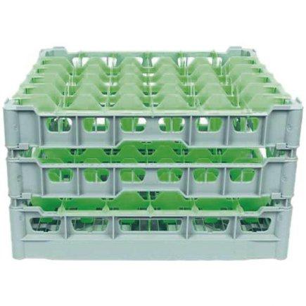 Koš na sklenice do myčky, velikost 500x500 mm, otvory 75x75 mm pro 36 ks sklenic