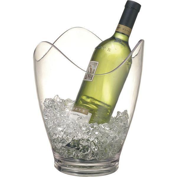 Chladící nádoba na Láhev chladič na víno sekt šampaňské Acryl Paderno