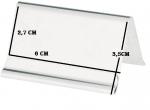 Stojánek na stůl Rezervace Reservé Rezervé nerez magnetický 5 ,8x5 cm APS