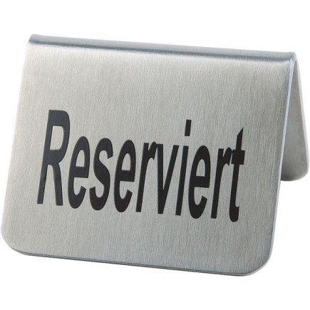 Stojánek na stůl Rezervace nerez APS 3,5x5,5 cm 2 ks
