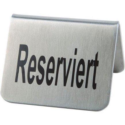 Stojánek na stůl Rezervace nerez APS 3,5x5,5 cm