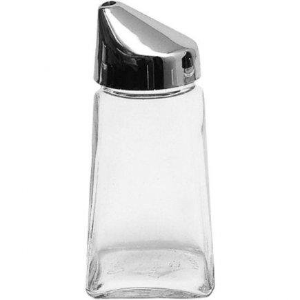 Cukřenka Dóza na cukr sklo plastové víčko hranatá 210 ml Gastro