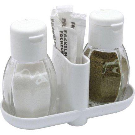 Menážka, 3-dílná, sůl, pepř, párátka, Fackelmann