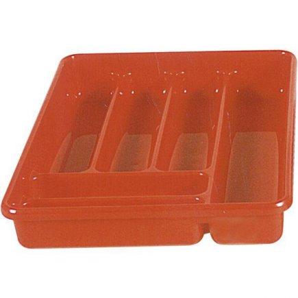 nádoba příborník plast různé barvy 6x přihrádka nádoba na příbory M-Plast