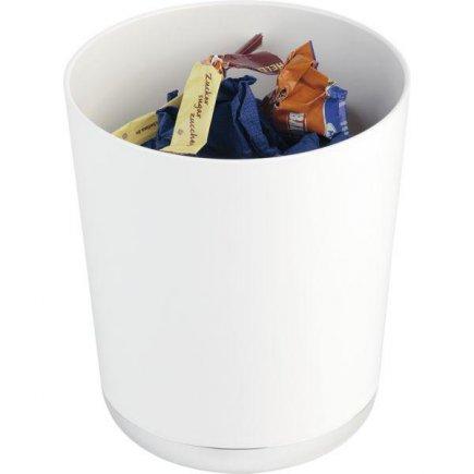 Stojánek na příbory příborník / odpadkový koš na stůl APS, bílý