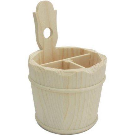Stojánek na příbory Gastro 20x14 cm, dřevěný