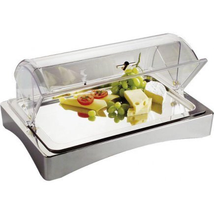 Bufetová servírovací vitrína APS Top Fresh 56x35 cm, včetně tácu a chladících vložek, bez poklopu