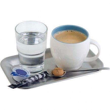 bufetový Servírovací Tác Podnos lesk mat obdélník 21,5x13 cm cukrárny kavárny káva zmzlinové poháry Kaffeehaus APS