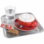 bufetový Servírovací Tác Podnos lesk mat čtverec 23x23 cm cukrárny kavárny káva zmrzlinové poháry Kaffeehaus APS