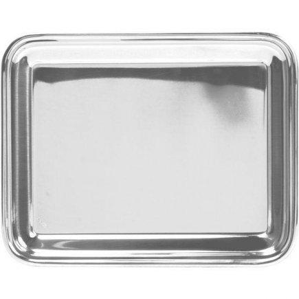 Bufetový Servírovací Tác Podnos Catering Pintinox obdélník zakulacený okraj 25x20,5 cm nerez