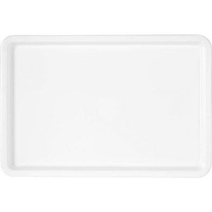 Tác Podnos plast 45x30 cm bílý jídelny školní družiny bufety rychlá občerstvení M-Plast