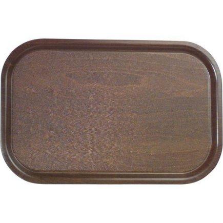 Tác Podnos obdélník lisované dřevo protiskluzový 33x23 cm Cambro