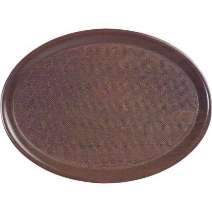 Tác Podnos ovál lisované dřevo protiskluzový 33x23 cm Cambro