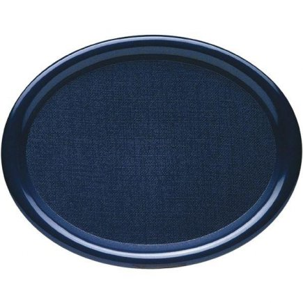 Tác Podnos ovál lesklý 26x20 cm plast modrý Waca