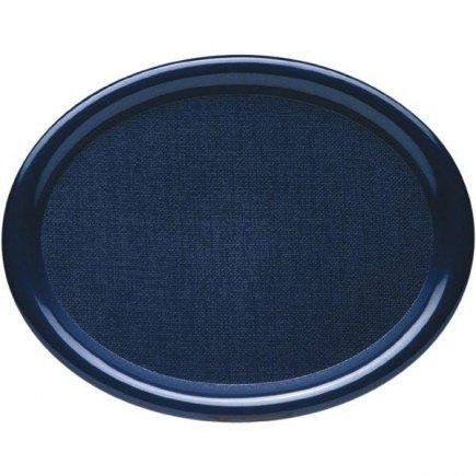 Tác Podnos ovál lesklý 28x21 cm plast modrý mateřské školy MŠ Waca
