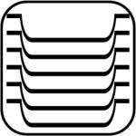 Servírovací tácek, podnos, ovál 28,5 x 21,5 cm, pro kavárny, cukrárny, melamin, černý, APS