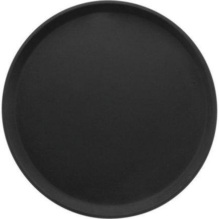 Tác Podnos kulatý Cambro 27,9cm protiskluzový pogumovaný povrch černý