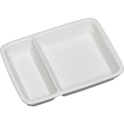 Talíř hranatý dvoudílný 2/3 + 1/3 Gastro 23,2x17,6 cm