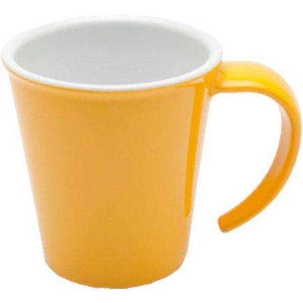 Hrnek na kávu plast Ornamin 350 ml, žlutý