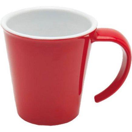 Hrnek na kávu plast Ornamin 350 ml, červený