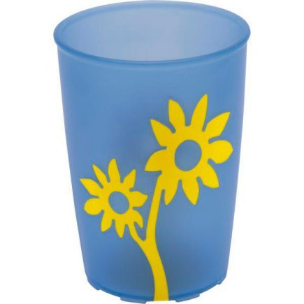 Kelímek plast Ornamin 250 ml, modrá / žlutá
