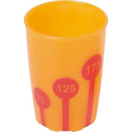 Kelímek plast Ornamin 250 ml, oranžová / červená
