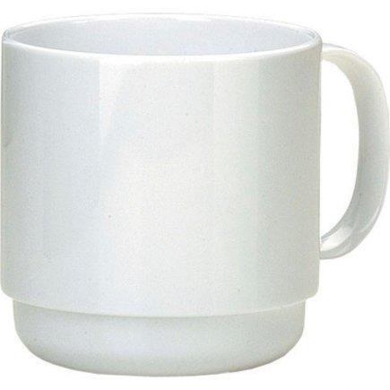 Hrnek plastový Ornamin 250 ml, bílý