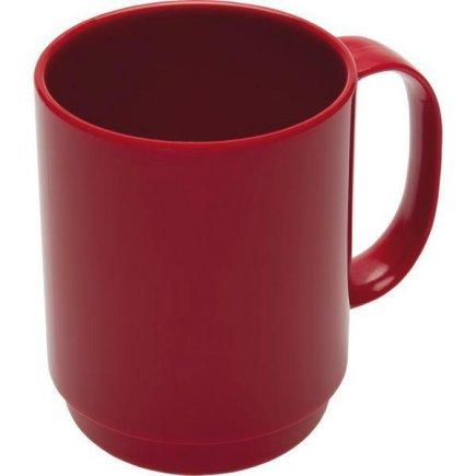 Hrnek plastový Ornamin 350 ml, červený