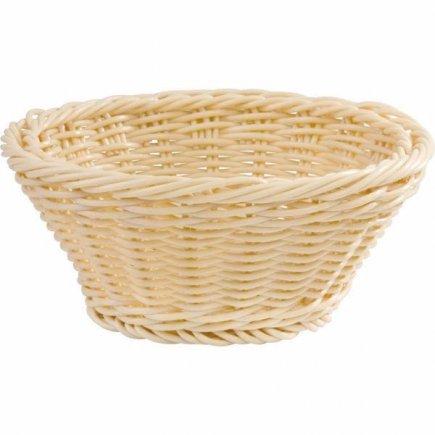 Košík na pečivo servírovací kulatý APS 25,5 cm, béžový