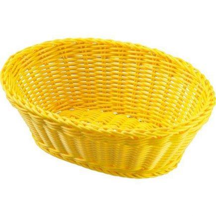 Servírovací košík na pečivo oválný Westmark 18,5x9 cm, žlutý
