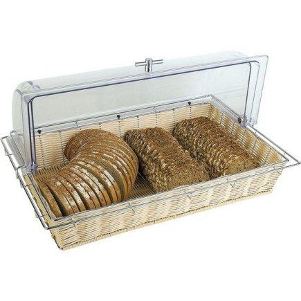 Koš na pečivo bez poklopu omyvatelný hygienický umělý ratan 53x32,5 cm pečivo chleba párty snídaně APS