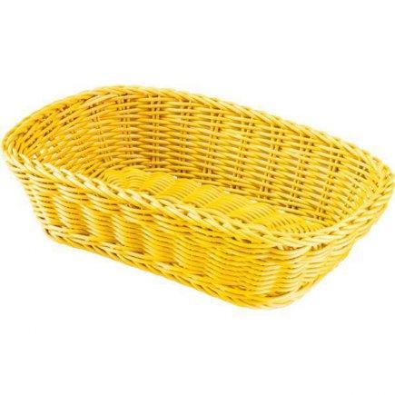 Košík na pečivo hranatý Westmark 26,5x19 cm, žlutý