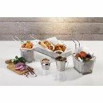 Košík pro servírování jídla nerez 10,5 x 13,5 x 8 cm APS, hranatý, vysoký
