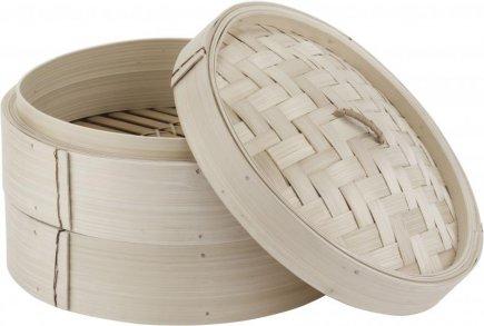 Parní napařovač bambusový s poklopem, 20 cm, Paderno