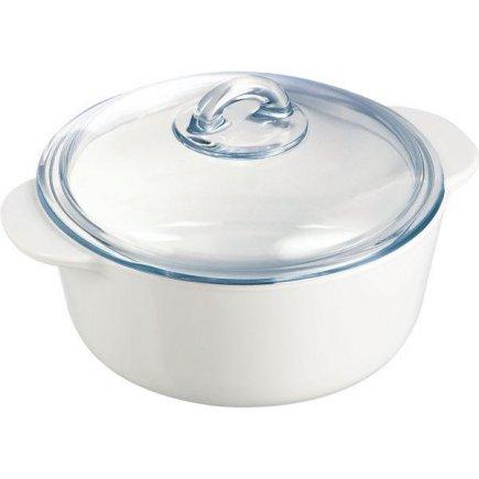 hrnec nízký s poklicí 20 cm pro mikrovlnky trouby plyn elektriku sklokeramiku myčky Pyroflam Arcoroc