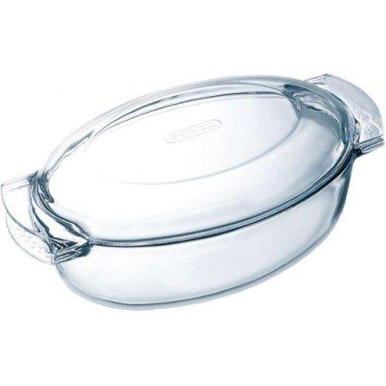 Pekáč forma Varné sklo ovál s poklicí 39x22,5 cm Pyrex
