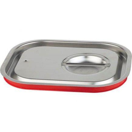 Víko pro gastronádobu 1/2 se silikonovým těsněním, chrání proti vystřiknutí při transportu, 265 x 325 mm, do teploty max. 180 C, APS