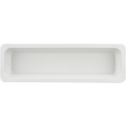 GN gastro nádoba 2/4 , 530 x 162 mm, v = 65 mm, bílá, porcelán, SCHÖNWALD
