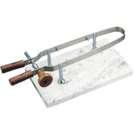 držák na šunku nerez na mramorové desce 24x44 cm Paderno