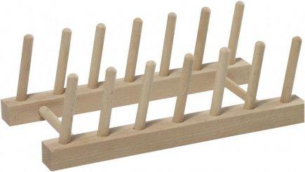 Stojan na talíře nebo prkénka Kesper, dřevo buk