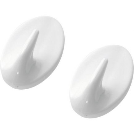 Háček samolepící plast Westmark 2 ks, bílý