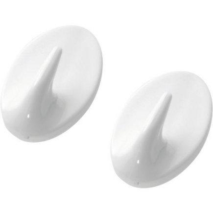 Háček samolepící plast Westmark, bílý